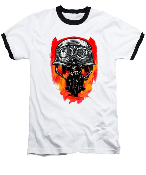 Freedom Baseball T-Shirt by Andrzej Szczerski