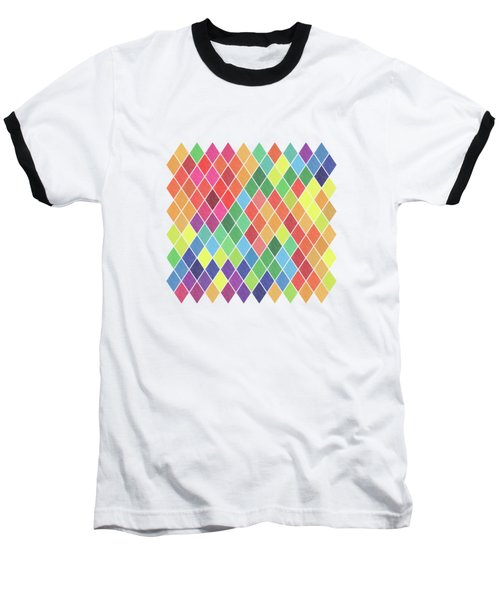 Geometric Background Baseball T-Shirt