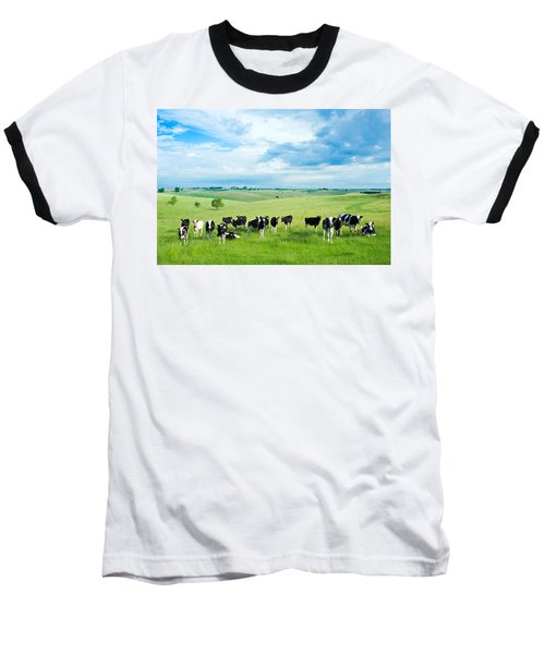 Happy Cows Baseball T-Shirt