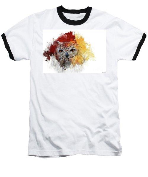 Indian Eagle-owl Baseball T-Shirt