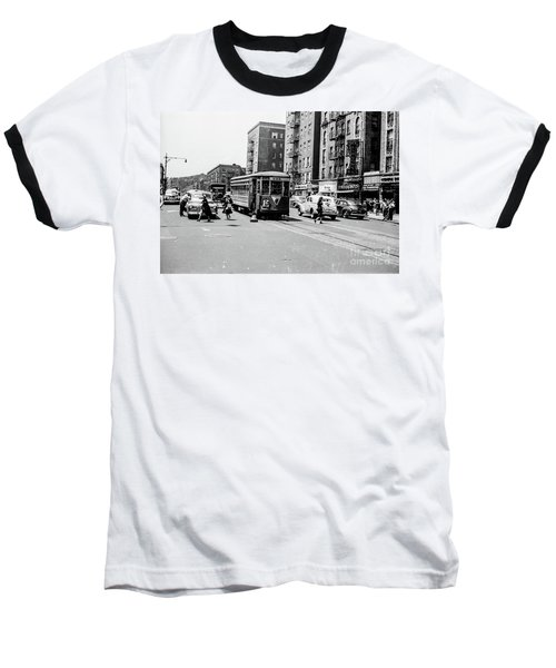 Baseball T-Shirt featuring the photograph Inwood Trolley  by Cole Thompson