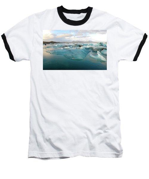 Jokulsarlon The Glacier Lagoon, Iceland 2 Baseball T-Shirt by Dubi Roman