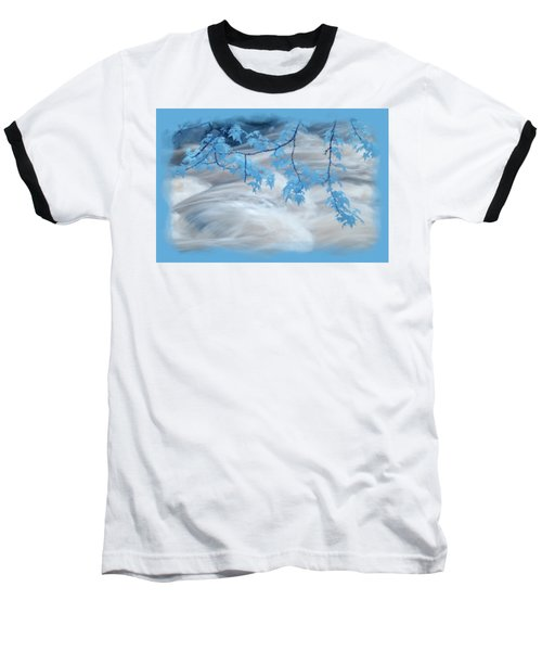 Leaves Over Gossamer Waters Baseball T-Shirt
