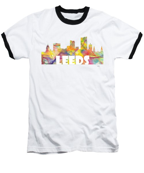 Leeds England Skyline Baseball T-Shirt
