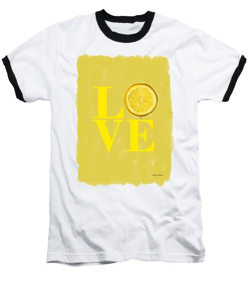 Lemon Baseball T-Shirt by Mark Rogan