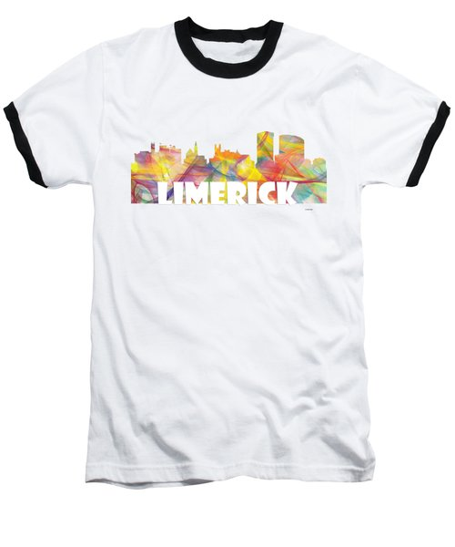 Limerick Ireland Skyline Baseball T-Shirt
