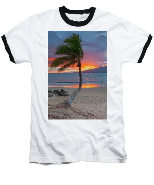 Lonely Palm Baseball T-Shirt by James Roemmling