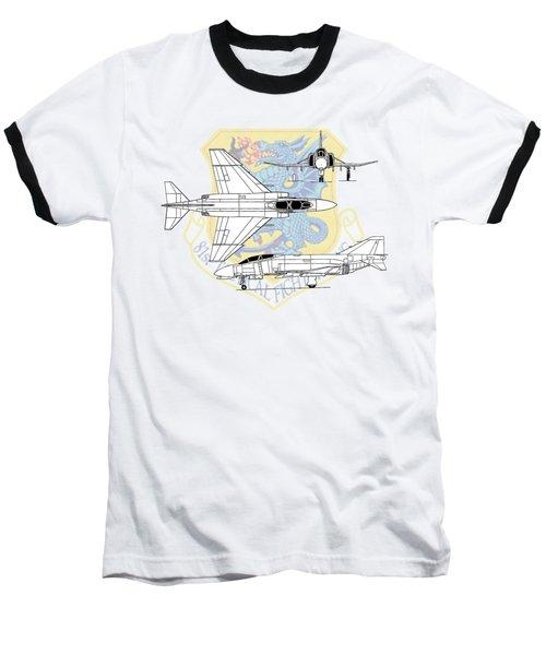 Mcdonnell Douglas F-4d Phantom II Baseball T-Shirt by Arthur Eggers