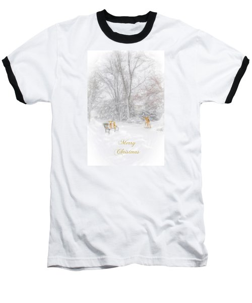 Baseball T-Shirt featuring the photograph Merry Christmas by Mary Timman