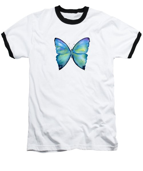 2 Morpho Aega Butterfly Baseball T-Shirt by Amy Kirkpatrick