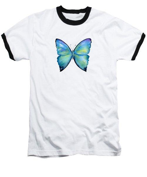 2 Morpho Aega Butterfly Baseball T-Shirt