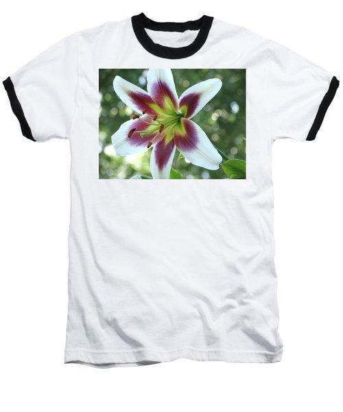 Oriental Lily Baseball T-Shirt