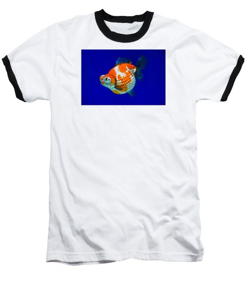 Pearl Scale Goldfish Baseball T-Shirt