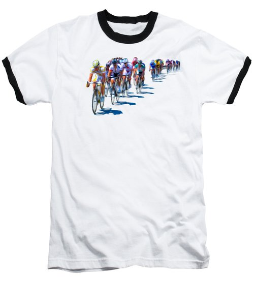 Philadelphia Bike Race Baseball T-Shirt by Bill Cannon