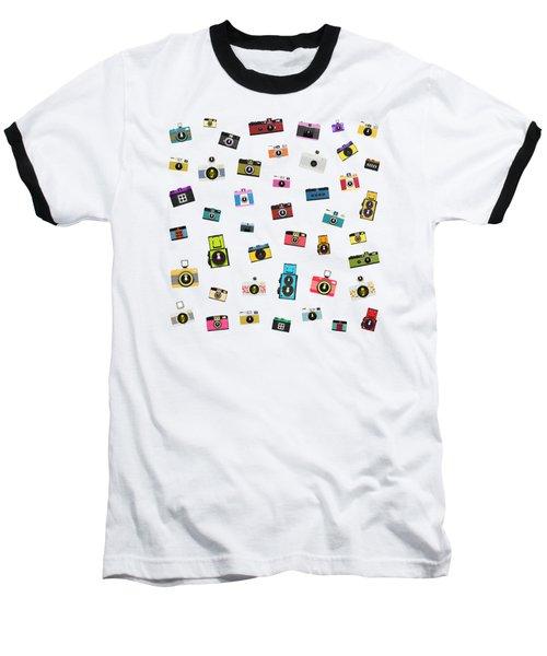 Retro Camera Baseball T-Shirt