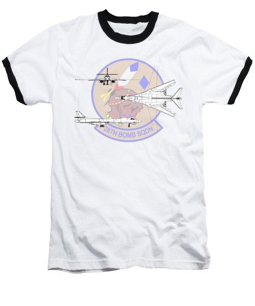 Rockwell B-1b Lancer Baseball T-Shirt by Arthur Eggers