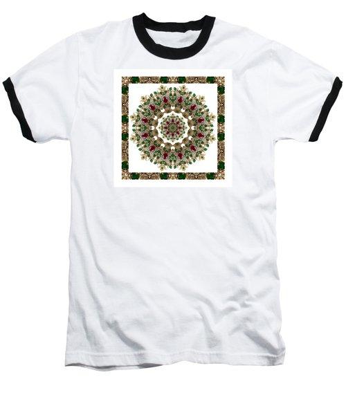 Ruby And Emerald Kaleidoscope Baseball T-Shirt