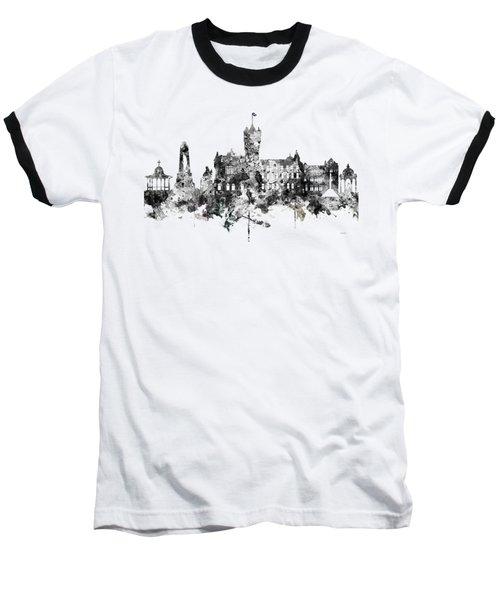 Rutherglen Scotland Skyline Baseball T-Shirt by Marlene Watson