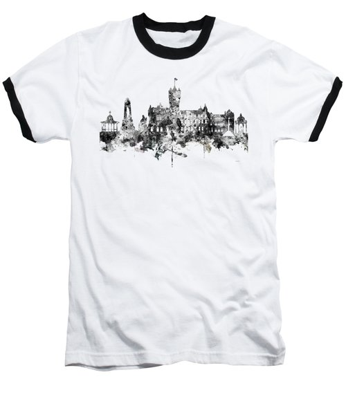 Rutherglen Scotland Skyline Baseball T-Shirt