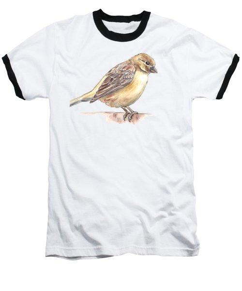 Sparrow Baseball T-Shirt by Katerina Kirilova