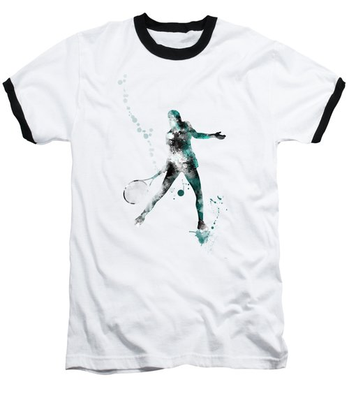 Tennis Player Baseball T-Shirt by Marlene Watson