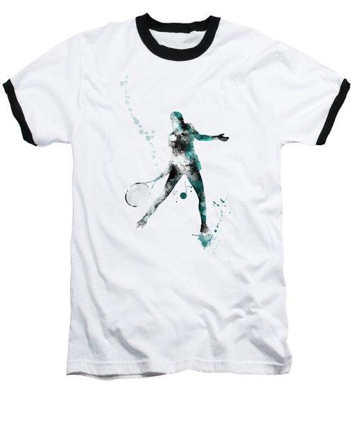 Tennis Player Baseball T-Shirt