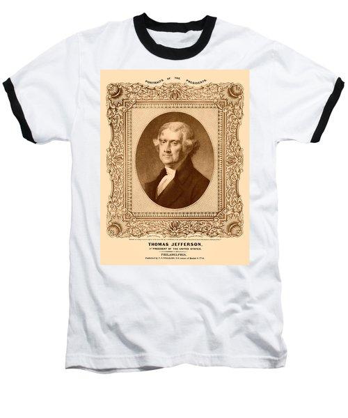 Thomas Jefferson Baseball T-Shirt by War Is Hell Store