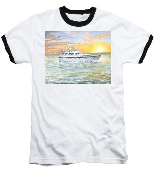 Baseball T-Shirt featuring the painting Untitled by Bob George