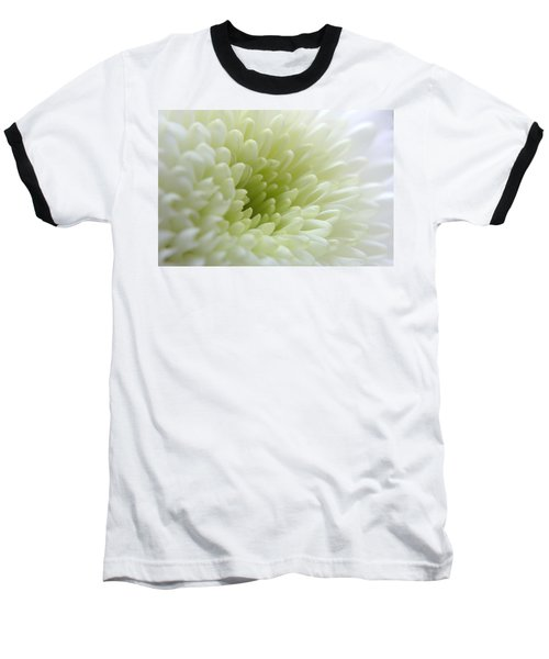 White Chrysanthemum Baseball T-Shirt