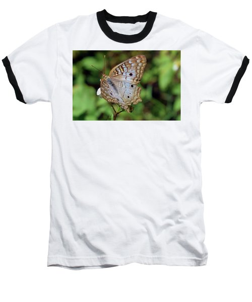White Peacock Butterfly Baseball T-Shirt