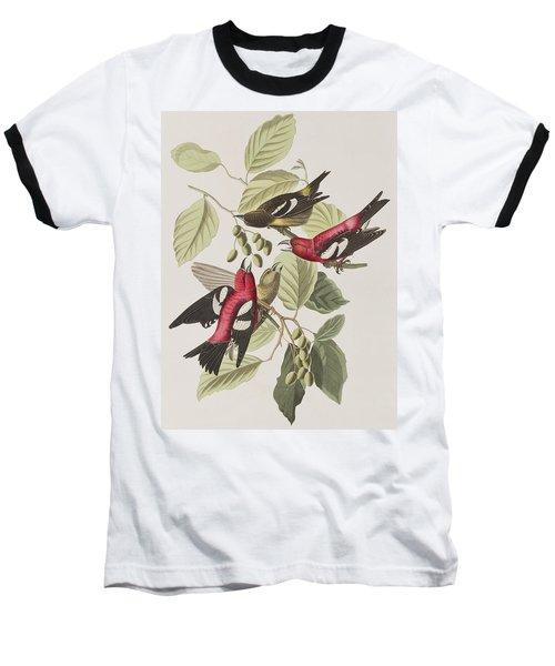 White-winged Crossbill Baseball T-Shirt
