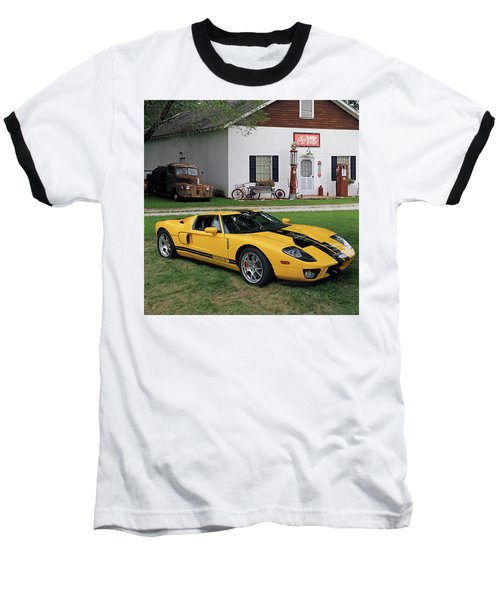 Baseball T-Shirt featuring the photograph 2005 Ford Gt by Christopher McKenzie