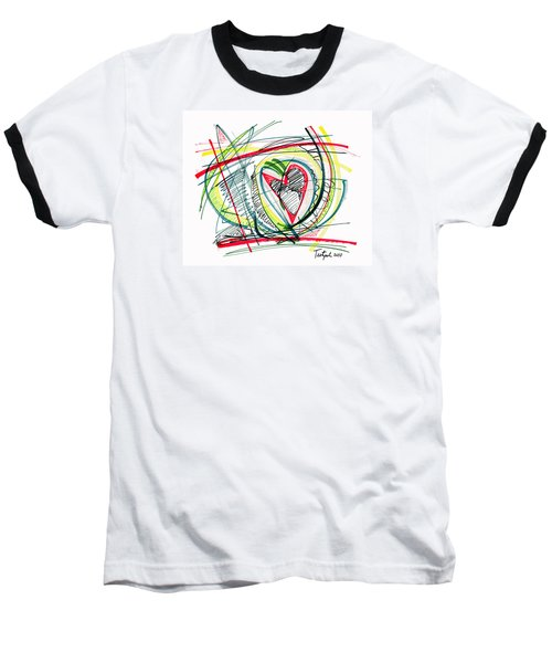 2010 Abstract Drawing Eighteen Baseball T-Shirt