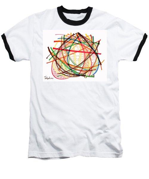 2010 Abstract Drawing Fifteen Baseball T-Shirt by Lynne Taetzsch