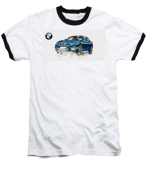 2014 B M W 2 Series Coupe With 3d Badge Baseball T-Shirt
