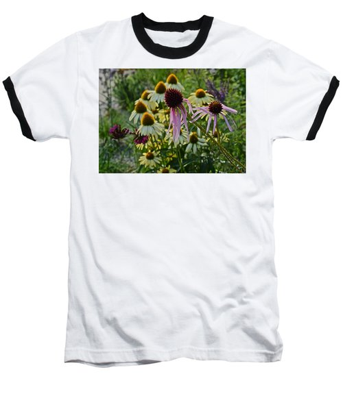 2015 Summer At The Garden Coneflowers Baseball T-Shirt