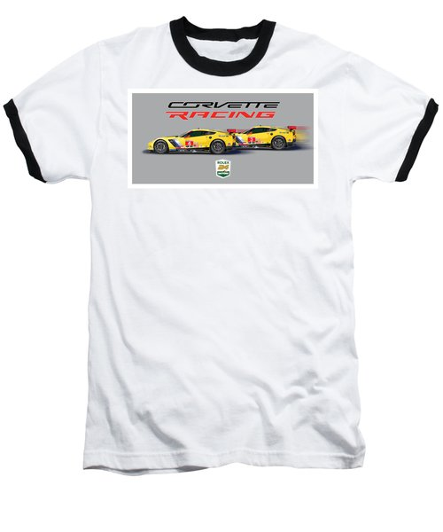 2016 Daytona 24 Hour Corvette Poster Baseball T-Shirt