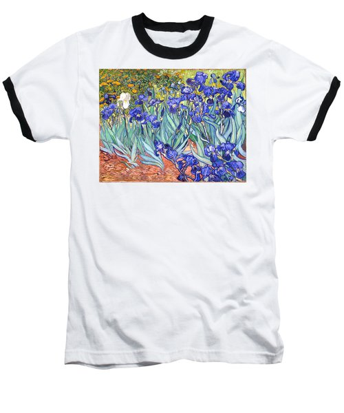 Irises Baseball T-Shirt by Vincent Van Gogh