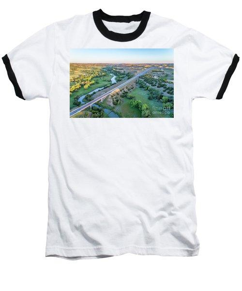 aerial view of Dismal River in Nebraska Baseball T-Shirt