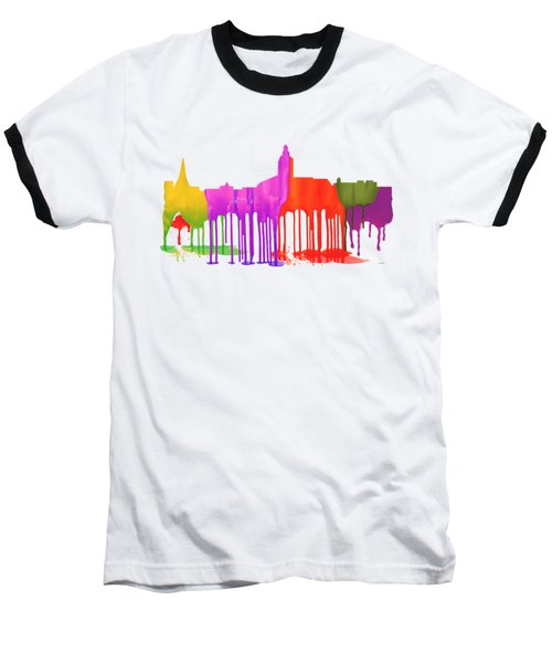 Annapolis Maryland Skyline      Baseball T-Shirt