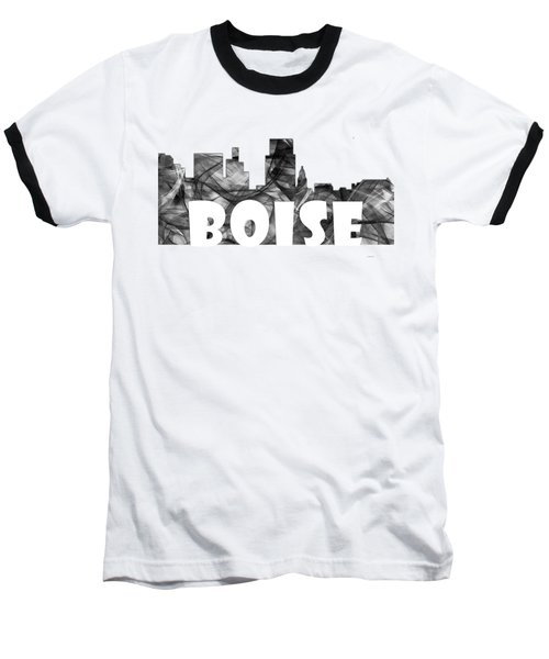 Boise Idaho Skyline Baseball T-Shirt by Marlene Watson