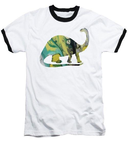 Brontosaurus Baseball T-Shirt by Mordax Furittus