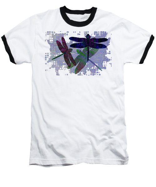 3 Dragonfly Baseball T-Shirt by Jack Zulli