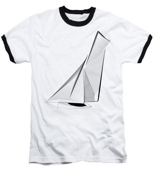 Falmouth Oyster Boat Baseball T-Shirt