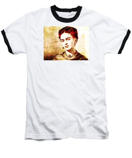 Frida Baseball T-Shirt by J- J- Espinoza