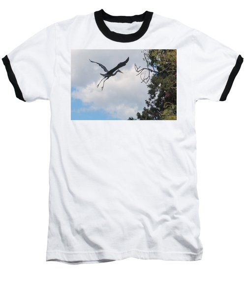 Great Blue Heron Baseball T-Shirt by Keith Boone