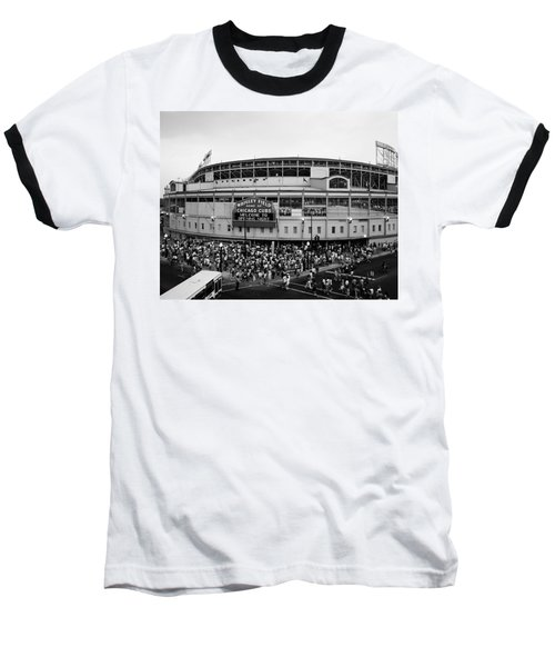 High Angle View Of Tourists Baseball T-Shirt by Panoramic Images