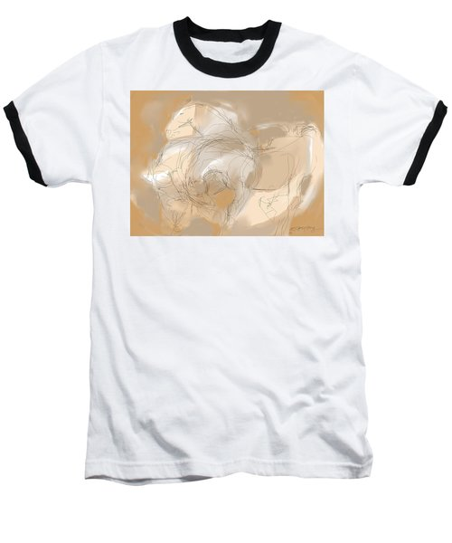 3 Horses Baseball T-Shirt by Mary Armstrong
