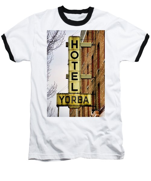 Hotel Yorba Baseball T-Shirt by Gordon Dean II