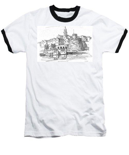 Korcula Croatia Baseball T-Shirt